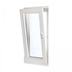 Fönster som vikts in tack vare underkantshängningen