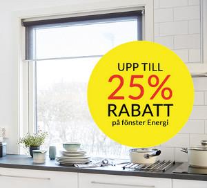 25% rabatt på ENERGI fönster