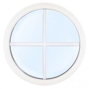 Runt fönster i aluminium