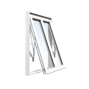 Aluminiumbeklätt vridfönster med mittpost