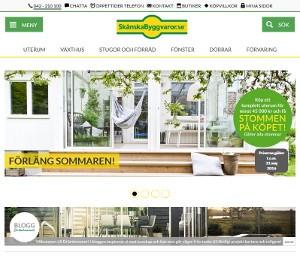 Screenshot av Skånska Byggvarors hemsida